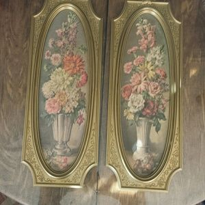 Vintage 1950s 60' Floral Painting Art